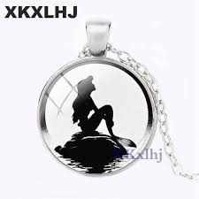 Online Shop <b>XKXLHJ NEW The</b> Little Mermaid Necklace Pendant ...