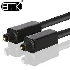 <b>EMK Digital</b> Optical <b>Audio</b> Cable Output Input Toslink 1m 2m 3m ...
