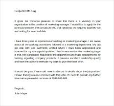 marketing manager cover letter marketing manager cover letters
