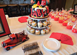 Firefighter Cupcake Decorations Barksdale Blessings Firefighter Baby Shower