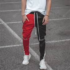 <b>Mens</b> Casual <b>Trousers</b> Cotton Stitching Stretch Slim <b>Fit Fitness</b> ...