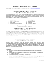 automotive electrical technician resume sample sterile processing technician resume example