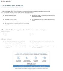 quiz worksheet role set com print role set in sociology definition analysis worksheet