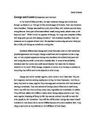 of mice and men george and lennie relationship essay   types of    of mice and men essay a comparison of these two passages yields the concept that nature possesses a conflict the relationship which candy and his dog share