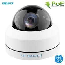 <b>Inesun Outdoor</b> 2MP 5MP PoE <b>IP</b> Security Dome Camera <b>Pan Tilt</b> ...