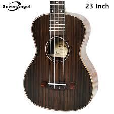 <b>SevenAngel Concert</b> Acoustic Ukulele <b>23 inch</b> Rosewood Hawaiian ...