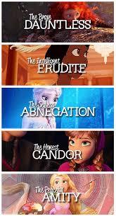 Disney Princesses in Divergent Factions via Relatably.com