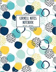 Buy Cornell Notes Notebook: Blue and Yellow Abstract ... - Amazon.in