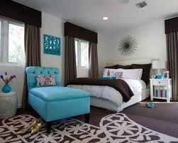 elegant girl room ideas furnishing with white low profile bed and accent blue chaise bedroom teen girl rooms