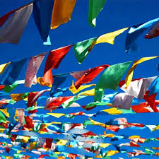 1 Set <b>20pcs Colorful</b> Tibetan Buddhist Prayer Flags Polyester Tibet ...