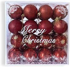 LASSUM <b>12 Pcs</b> Christmas Balls Ornaments for <b>Xmas Tree</b>,1.57 ...