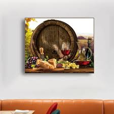 <b>Laeacco Canvas Painting</b> Calligraphy Wine Grape Food Posters ...