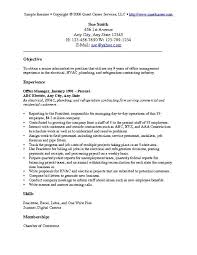 sample resume objectives for any job   template   templatesample resume objectives for any job