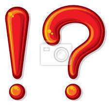 Znalezione obrazy dla zapytania znak zapytania i wykrzyknik