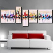 100% <b>Handpainted</b> American Style Modern Abstract Oil Painting On ...