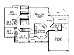 Greenwald Ranch Home Plan D    House Plans and MoreBungalow House Plan First Floor   D    House Plans and More