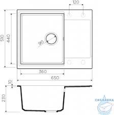 <b>Кухонная мойка Omoikiri Daisen</b>-65-GR Leningrad grey 4993682 в ...