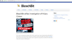 bleachbit brags of wiping hillary s servers clean claims it what can we say at least someone is winning as the entire american political system teeters on the verge of collapse after finally being revealed for the