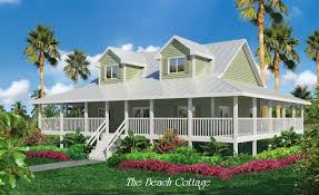 Beach House Plans   Cottage house plans    Beach House Plans With Wrap Around Porches