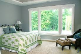 beige grey green bedroom color theme and traditional decorating style crown molding blue grey paint colors view