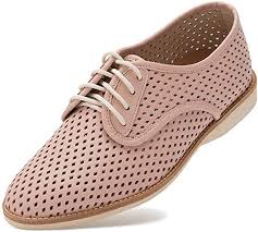Rollie <b>Women's</b> Lightweight Derby Punch Perforated Lace-Up <b>Flat</b> ...