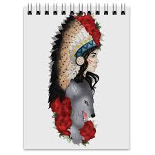 """Блокнот """"Indian"""" #515263 от anastasiya24sk - <b>Printio</b>"""