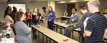 class prepares people who are deaf or hard of hearing for work this team building exercise requires participants to come up the best strategy to knock