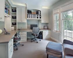 beautiful home office design for two people with double desk awesome modern home office design beautiful cool office designs information home