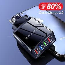<b>LEEHUR 5V 3A Fast</b> Charging 4 Port USB Charger Quick Charge ...