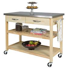 kitchen cart stainless top
