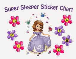 sew the line my sticker fun sticker charts sofia super sleeper sticker chart