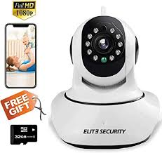 ELITE SECURITY Camera Indoor Home Baby/Pet Monitor <b>Wifi</b> Ip