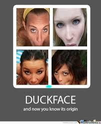 The Origin Of The Duck Face by deansmith1197 - Meme Center via Relatably.com