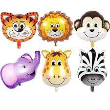 <b>JUNGLE ANIMALS BALLOONS</b> - 6pcs 22 Inch Giant <b>Animal Balloon</b> ...