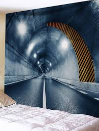 <b>Tunnel Entrance Printed Wall</b> Tapestry