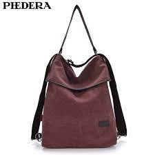 Multifunction Big Women's Backpack Retro Stylish <b>Quality Washed</b> ...