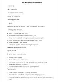 manufacturing resume template –    free samples  examples  format    free sample manufacturing resume template