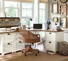 Whitney Corner Desk Set  Almond White Potterybarn Love This Look For A Home Office  E