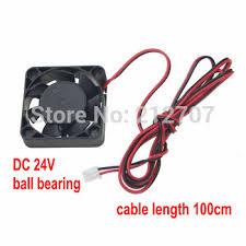 5 PCS Gdstime for 3D Printer Fan 40mm 24V Ball Bearing Brushless ...