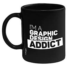 Buy Huppme I'm A <b>Graphic Design Addict</b> Ceramic Coffee Mug, 350 ...