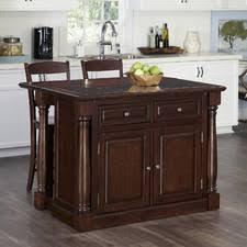 kitchen island granite top sun: shyanne kitchen island set with granite top