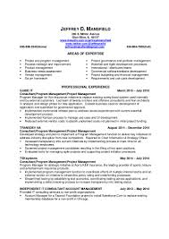 pdf version of project program manager resume jeffrey mansfield