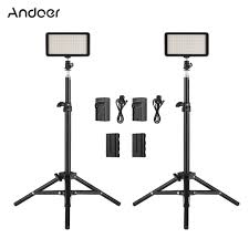 Andoer <b>LED Video Light</b> Kit include 2pcs <b>W228</b> 3200K/6000K Bi ...