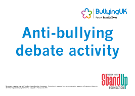 anti bullying week resources family lives debating topics can help young people a number of skills including research team work presentation