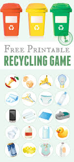 printable recycling game for kids cv template and kid printable recycling game for kids just print the template cut the tokens and
