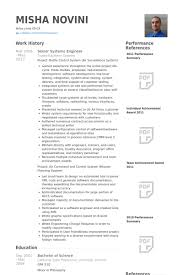 senior systems engineer resume samples system engineer resume sample