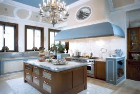 french country kitchen contemporary flair country kitchen blue wash cabinets gold hardware island cookbook cabin