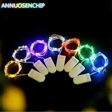Hit 3M 4M 5M LED <b>Creative</b> 7 Color Button <b>Battery</b> Box of Copper ...