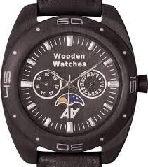 <b>Мужские часы AA</b> Wooden Watches Moon Blackwood S2 Moon Black