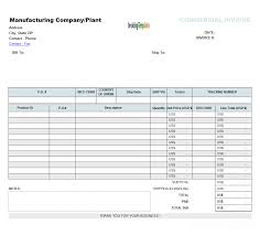 commercial invoice templates blank commercial billing form